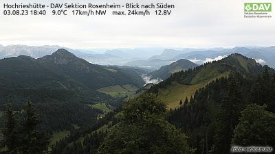 Webcam Hochries Gipfel Südstartplatz